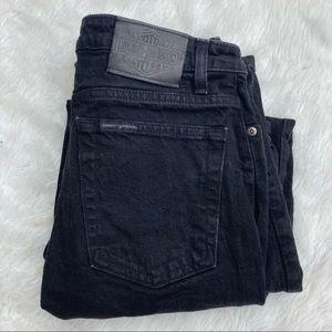 Harley Davidson Black Bootcut Denim Jeans Size 12